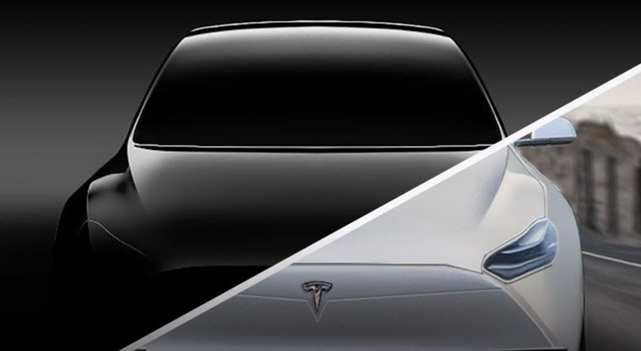 Tesla Model Y rendered to life from Photoshopped teaser image