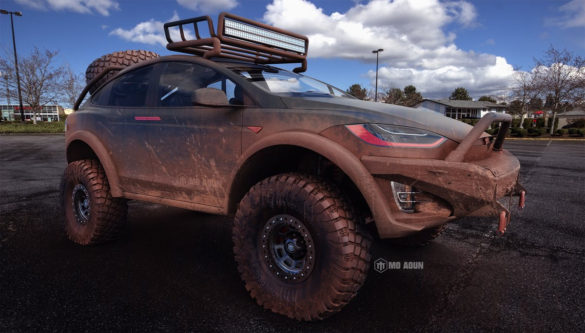 Aggressive Tesla Model X Off Roader Imagined By Graphic