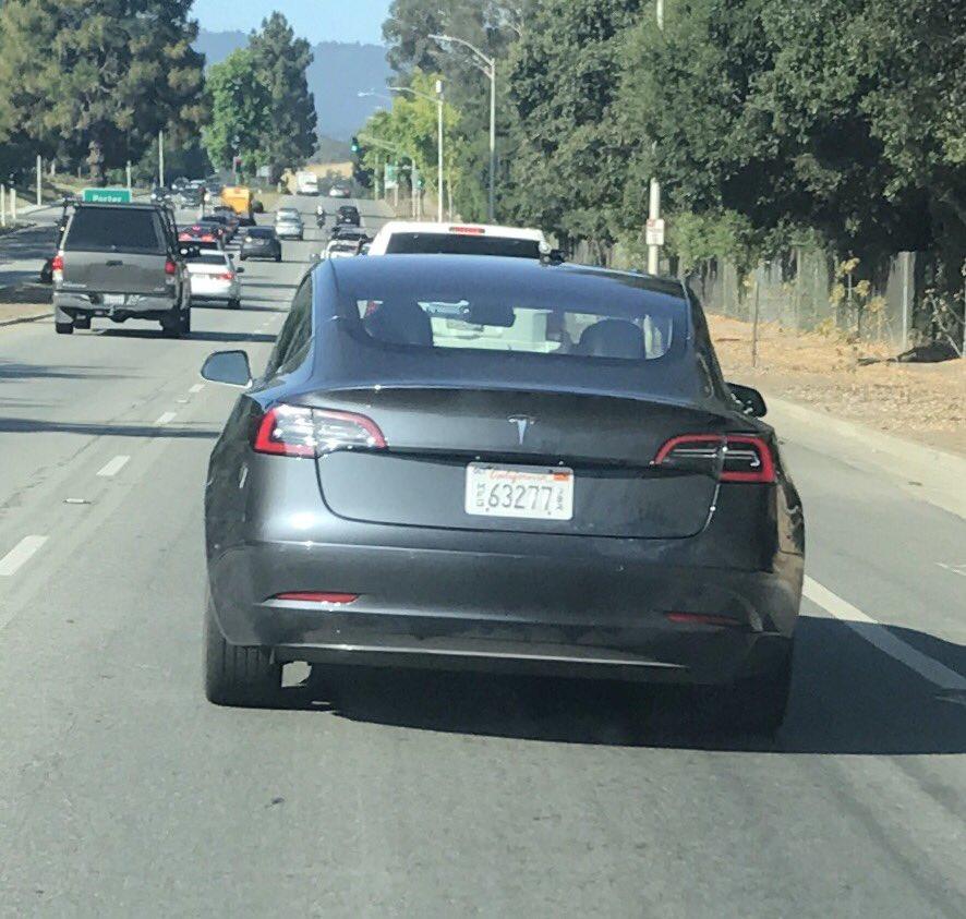 Tesla Model 3 Midnight Grey Spotted Near Tesla Hq