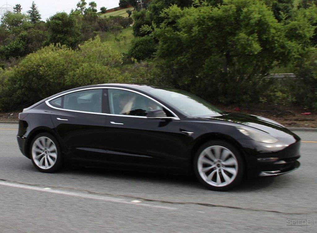 Model 3 midnight grey