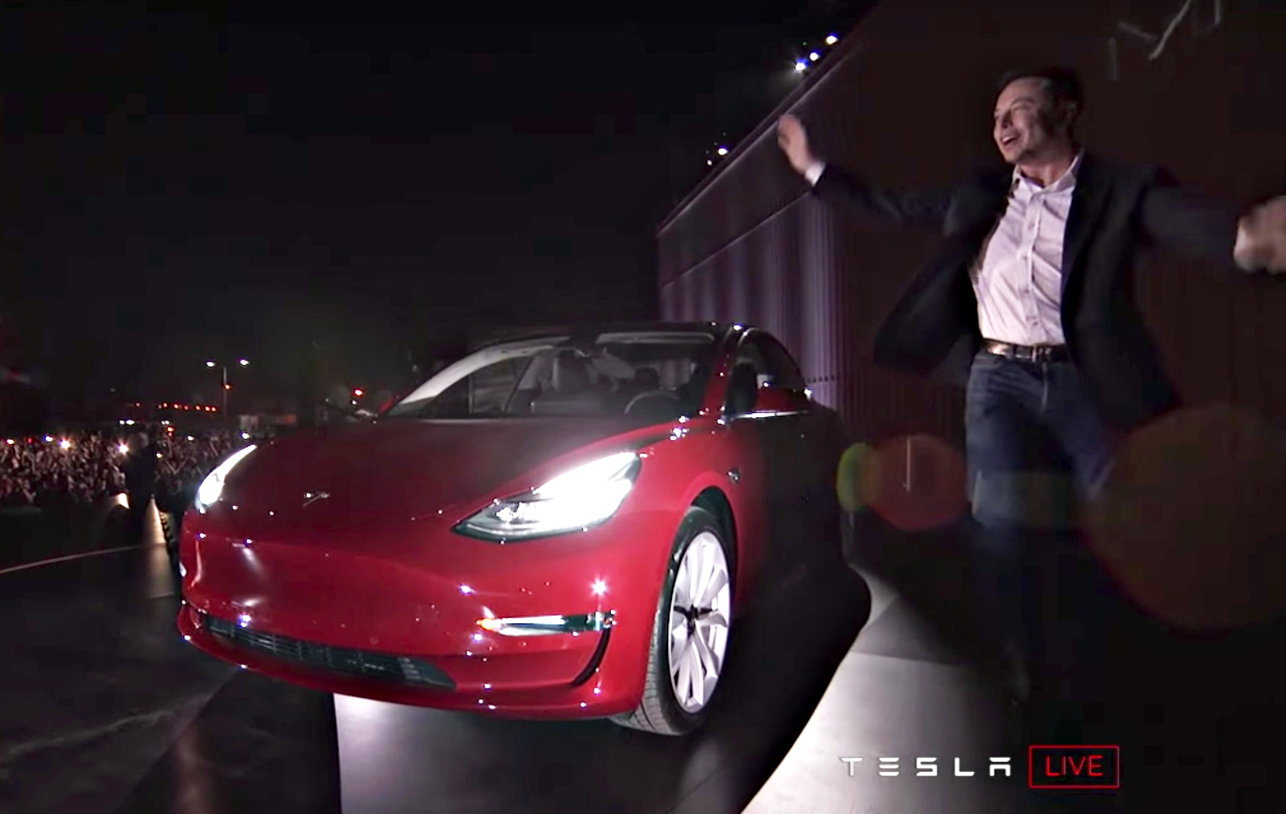 red-tesla-model-3-elon-musk-delivery-event