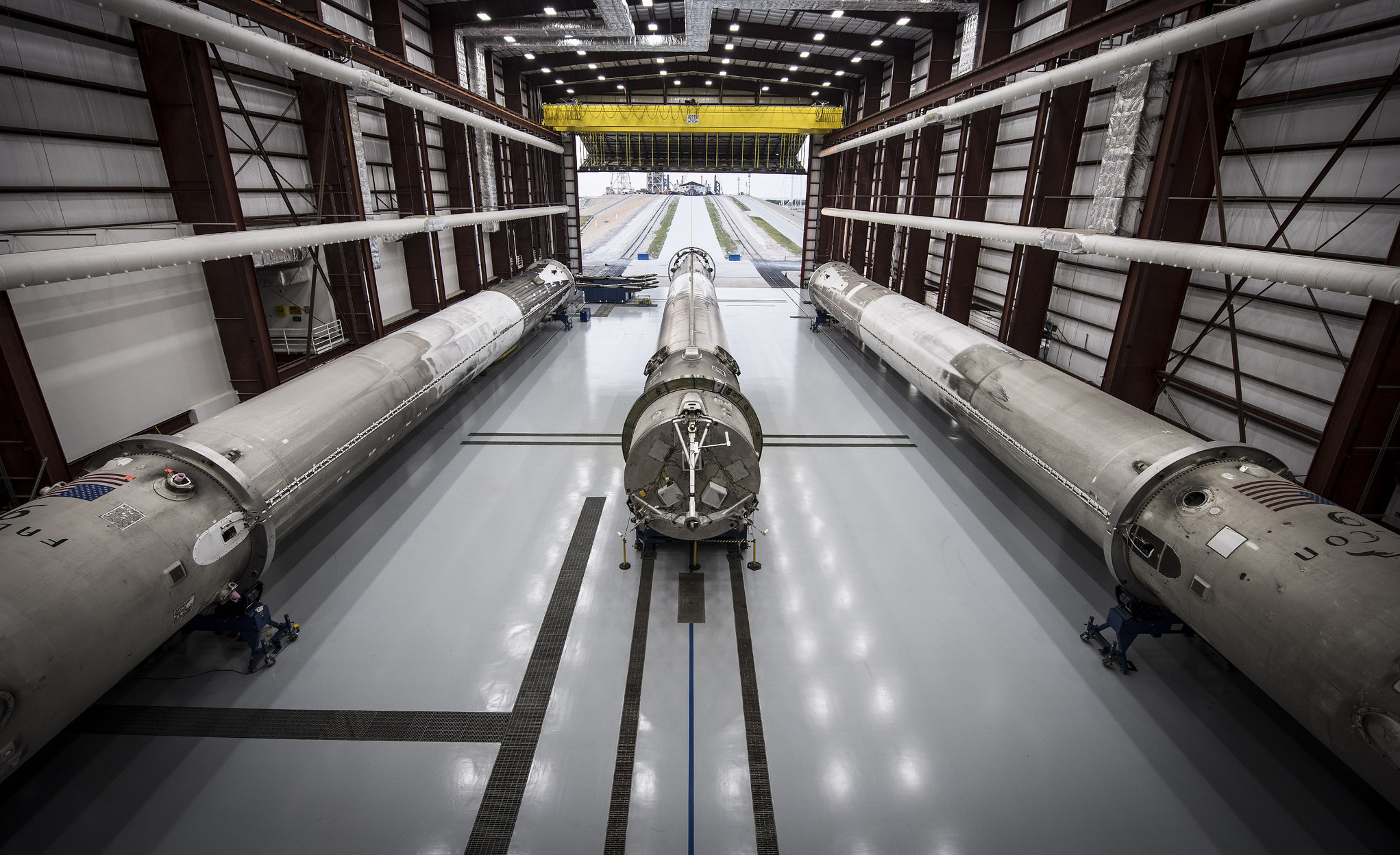 spacex dragon rocket in hanger -#main