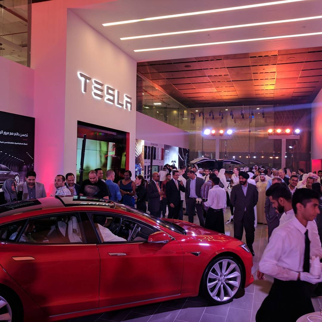 Tesla Launches In Dubai With New Showroom And Service Center