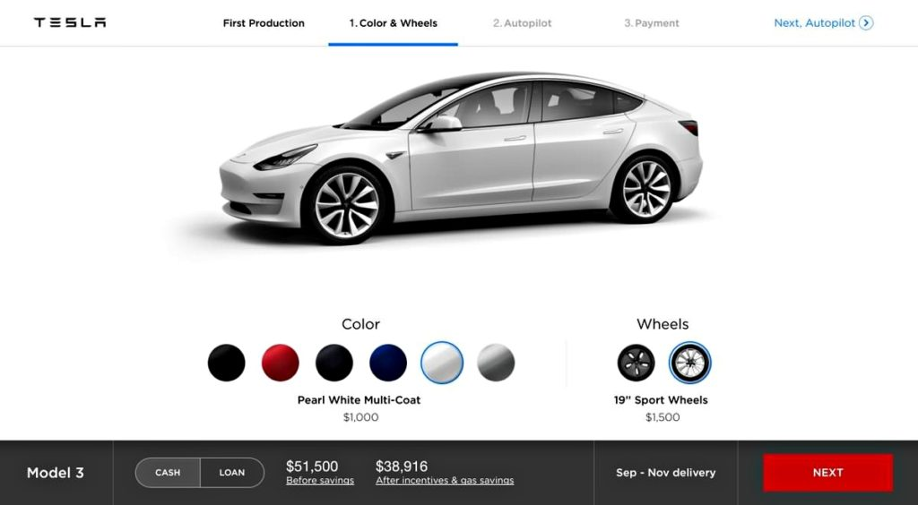 Tesla S Model 3 Online Configurator Is Curly Available To Employees Only