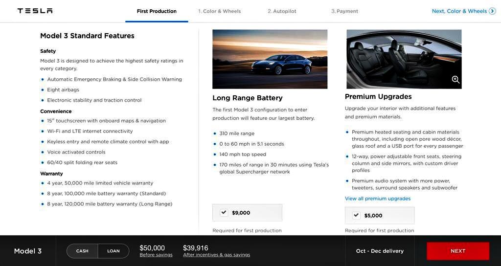 Tesla model 3 add ons
