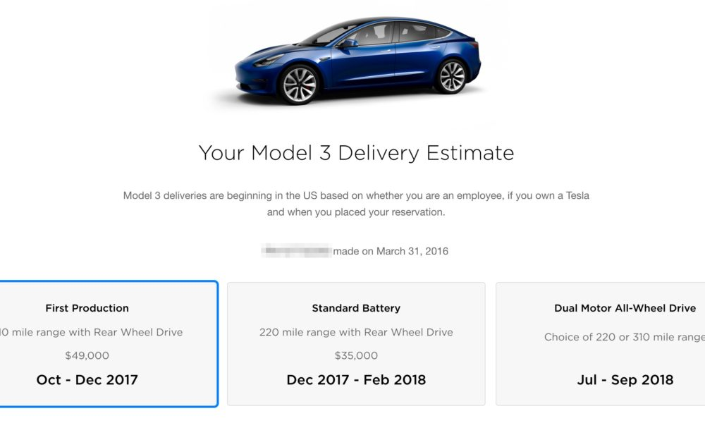 tesla model 3 first image of the production version when autos post. Black Bedroom Furniture Sets. Home Design Ideas