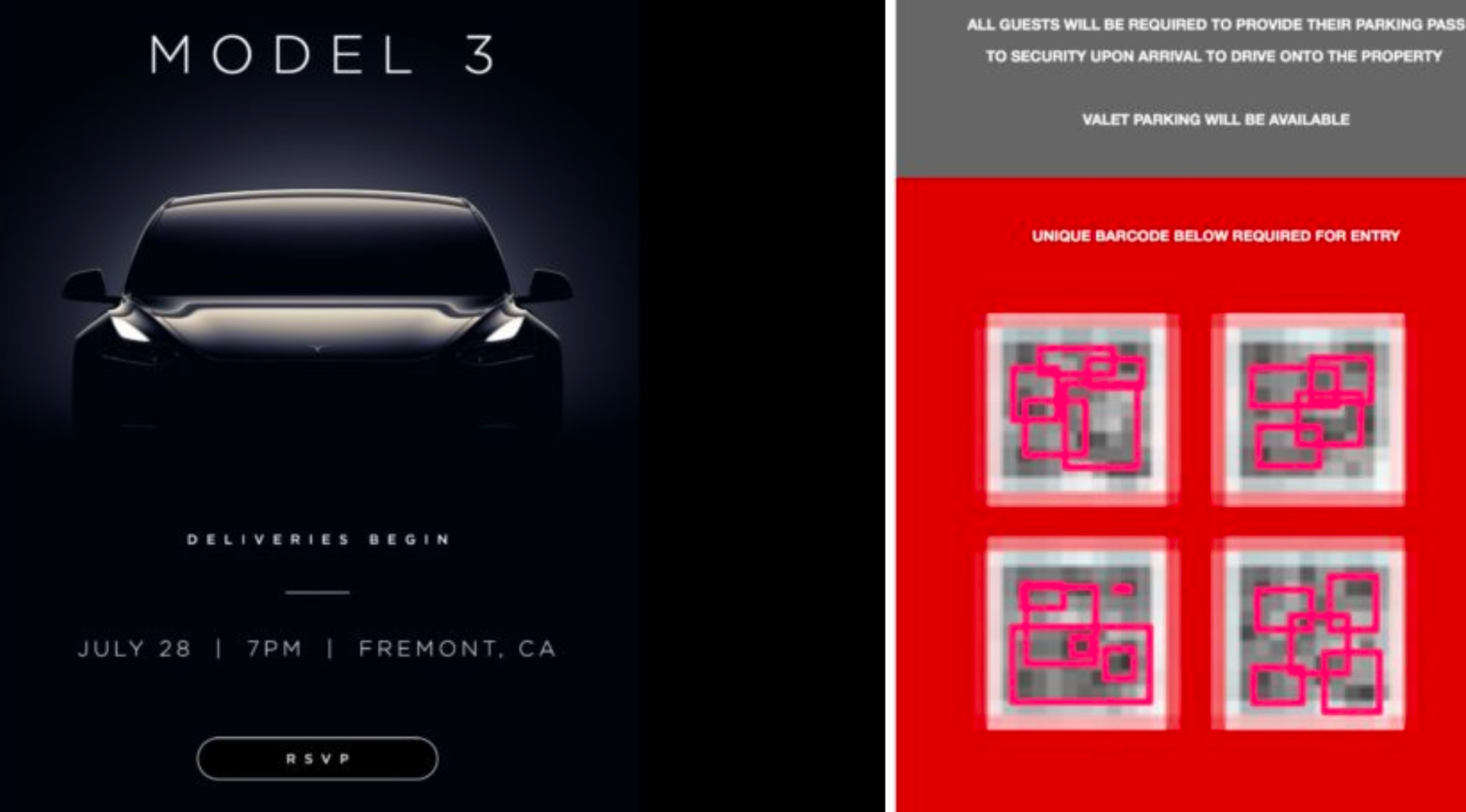 tesla-model-3-delivery-event-QR-code-splash