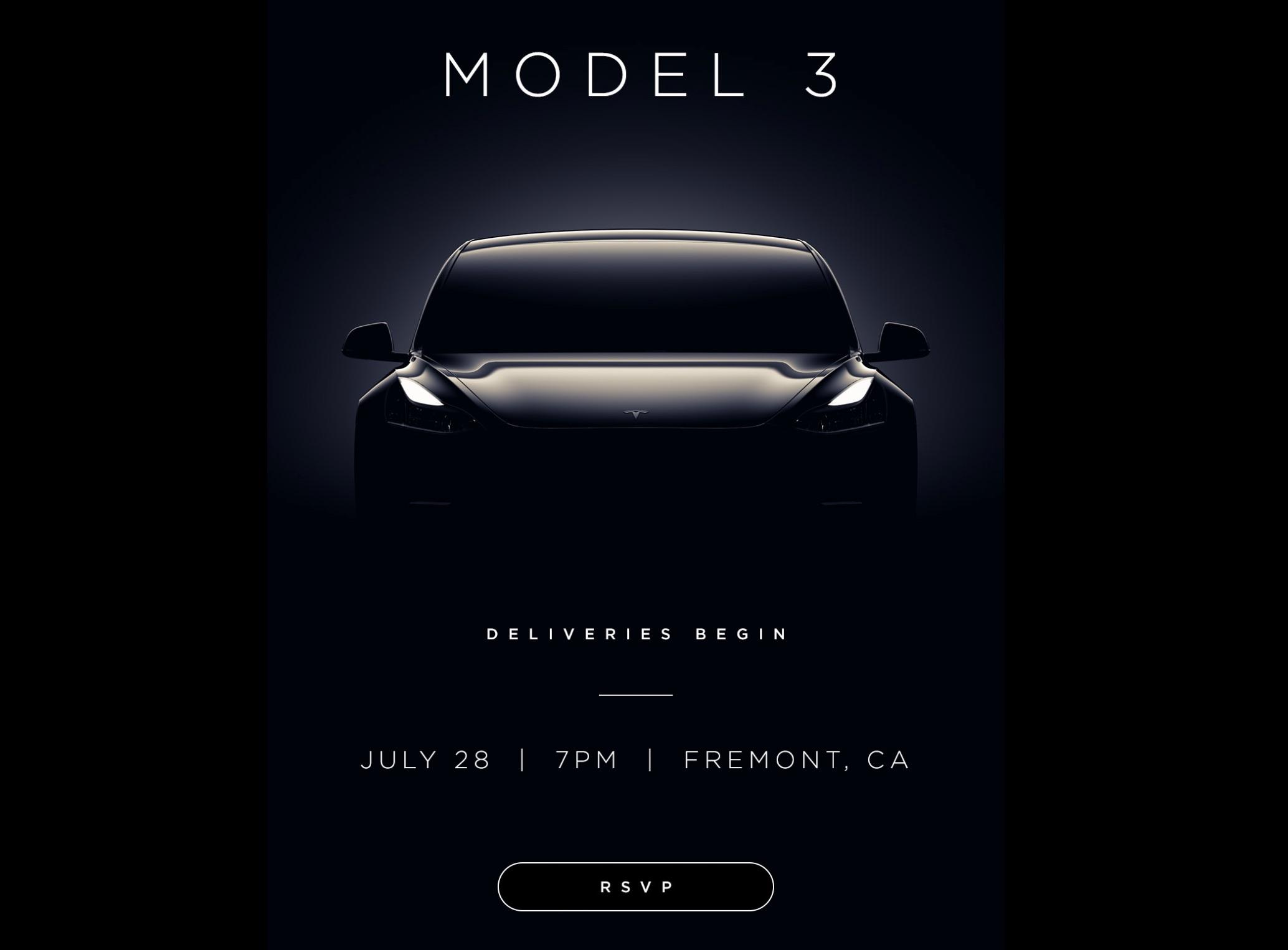 Tesla Supercharger Map 2017 >> Tesla Model 3 delivery event: Fremont factory, 7pm (PT) on ...