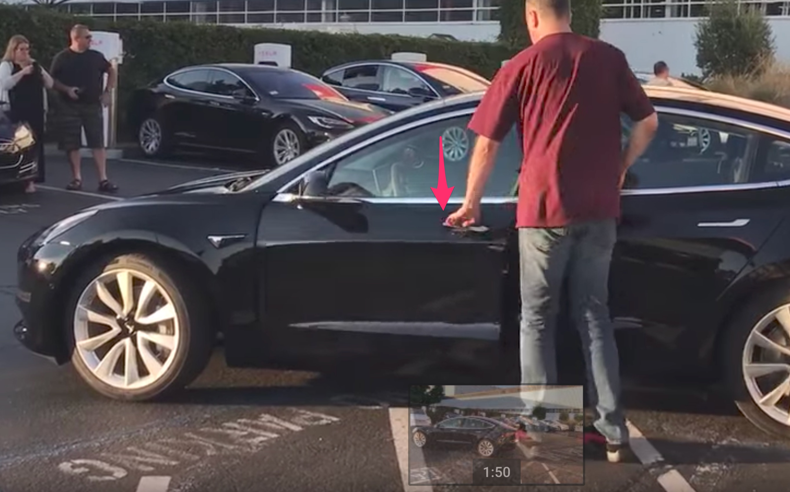 Video Of Tesla Model 3 Production Car Appears To Show Self