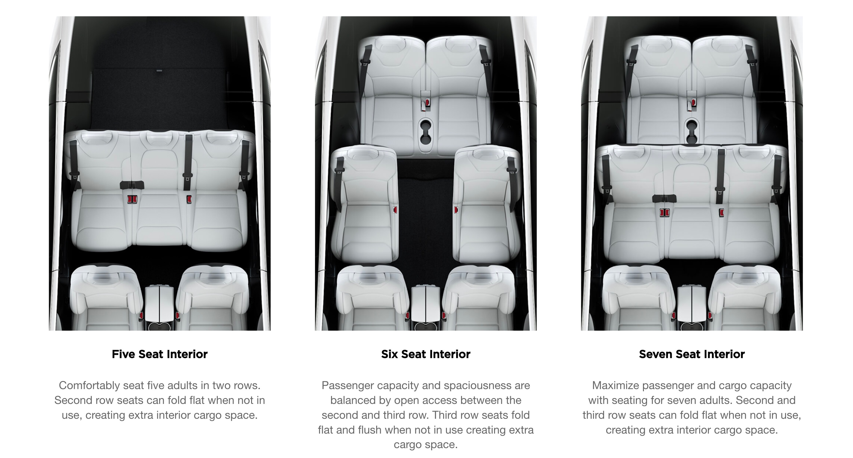 Tesla Model X In 7 Seat Configuration Finally Gets Fold Flat 2nd Row Seats Video