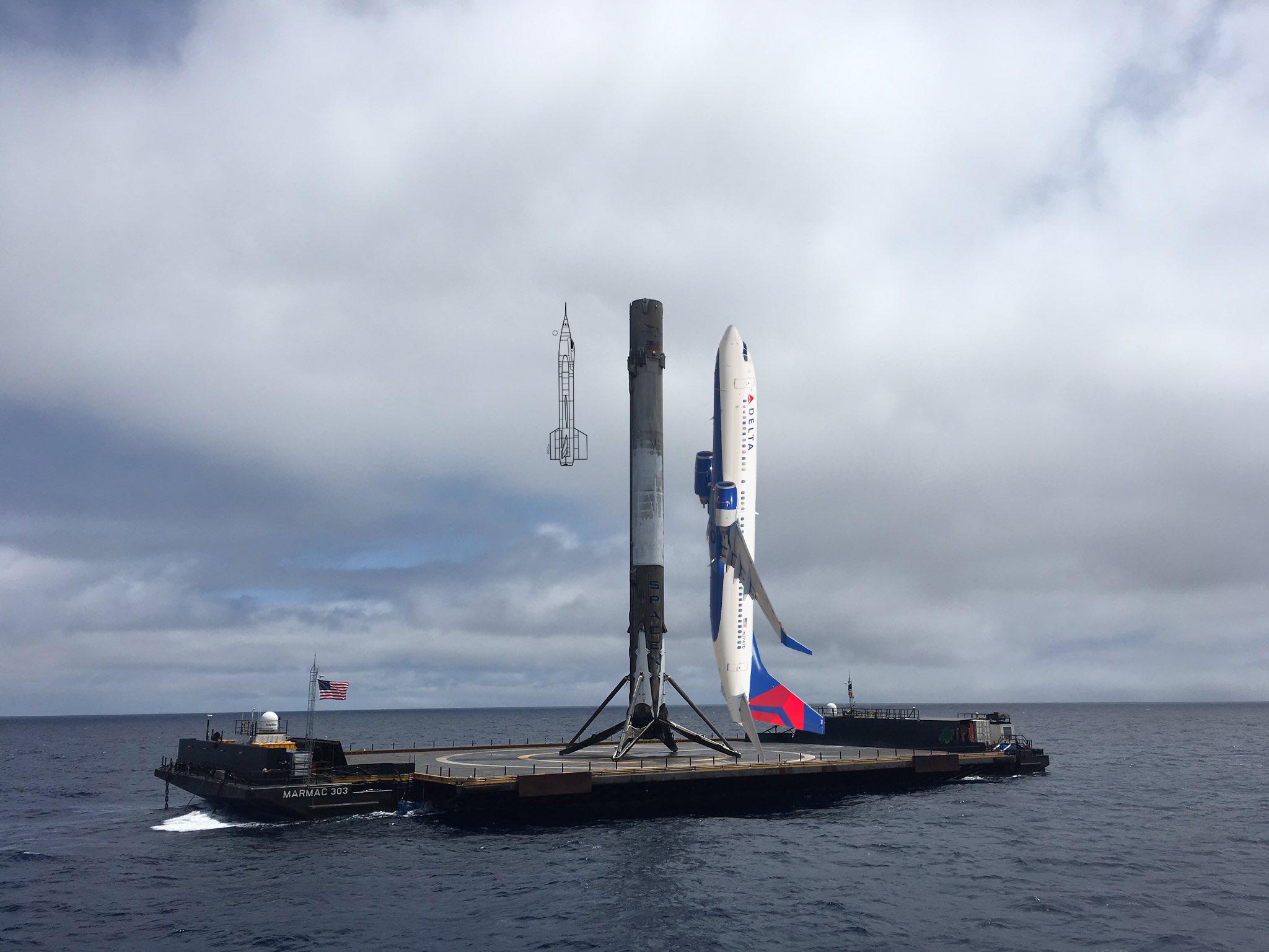 Falcon 9 S1 – 737-800 – X-15