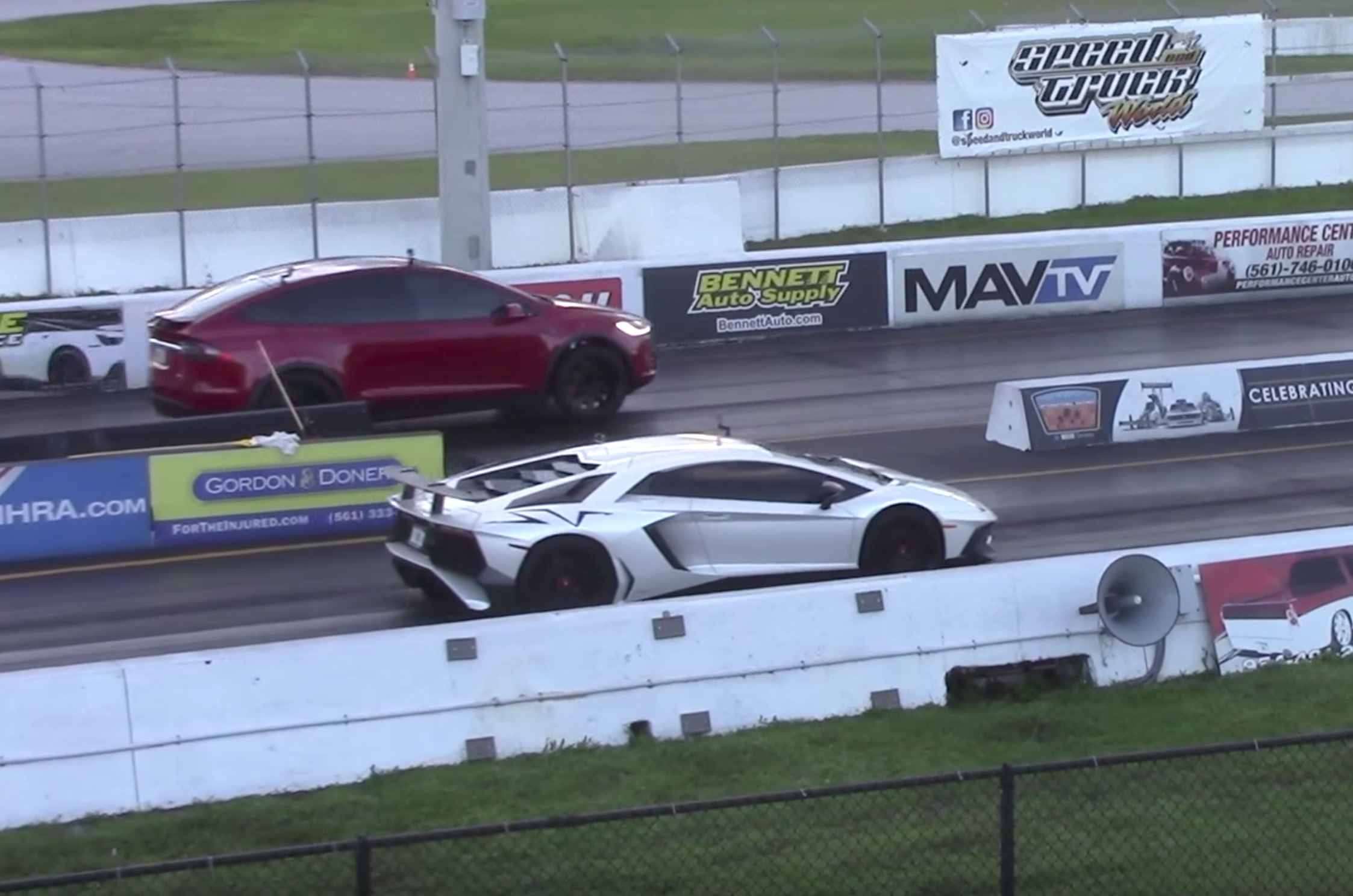 Watch This Tesla Model X Suv Out Drag Race A 530k Lamborghini