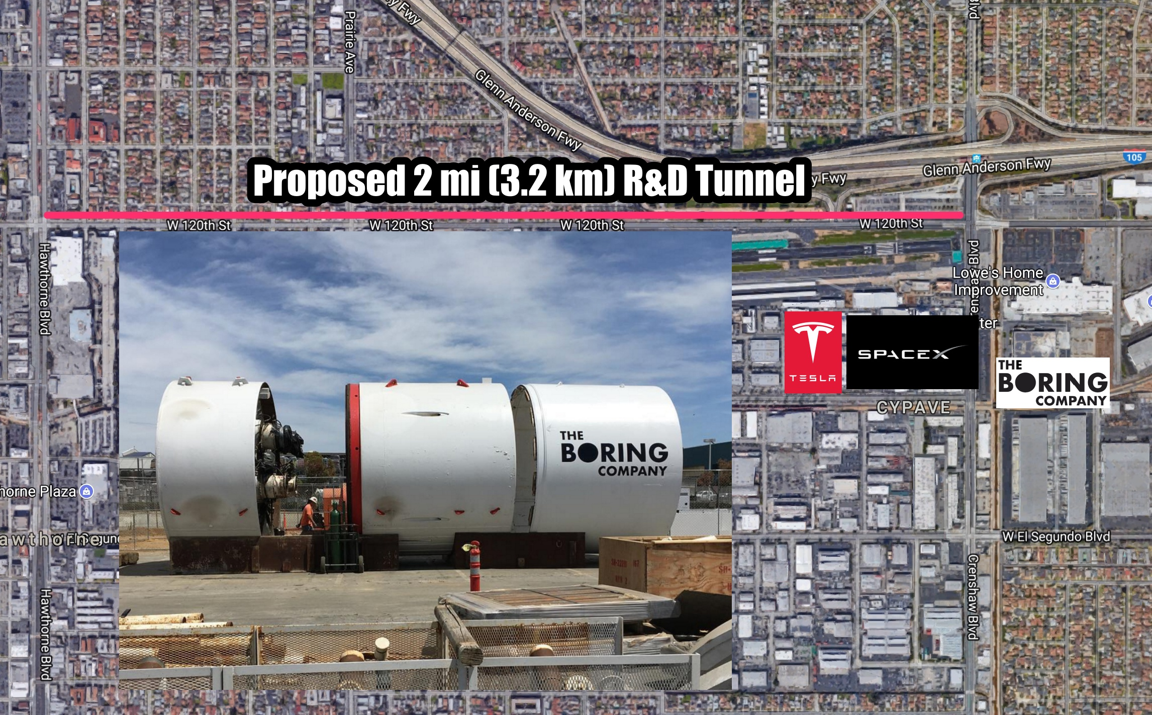 Boring Building Material : The boring company pitches mi km r d tunnel to