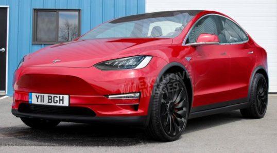 Tesla Model Y rendered on existing Model 3 platform
