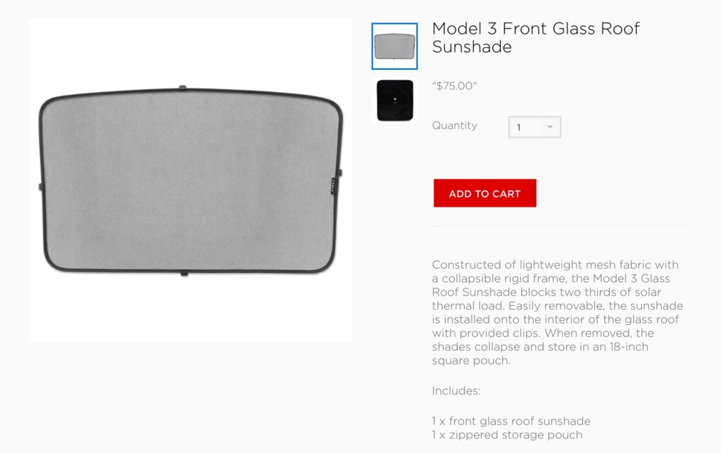 First Tesla Model 3 Accessories Appear In Company Online Store