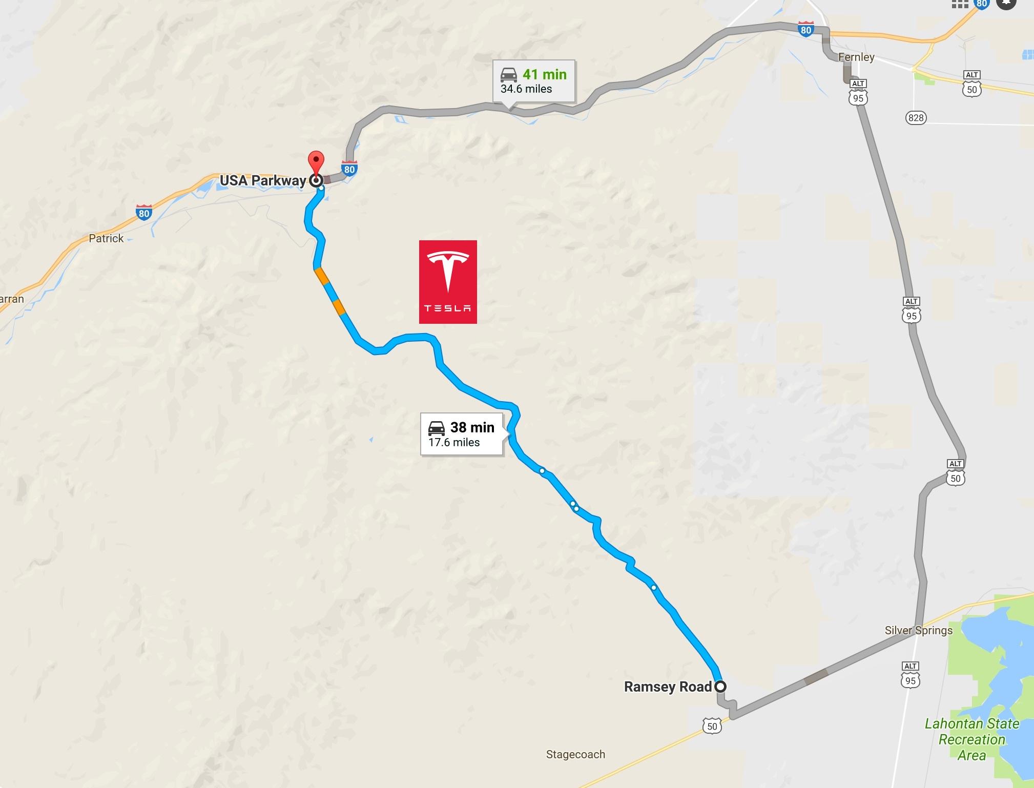 Tesla Gigafactory Usa Parkway Map Teslarati Com