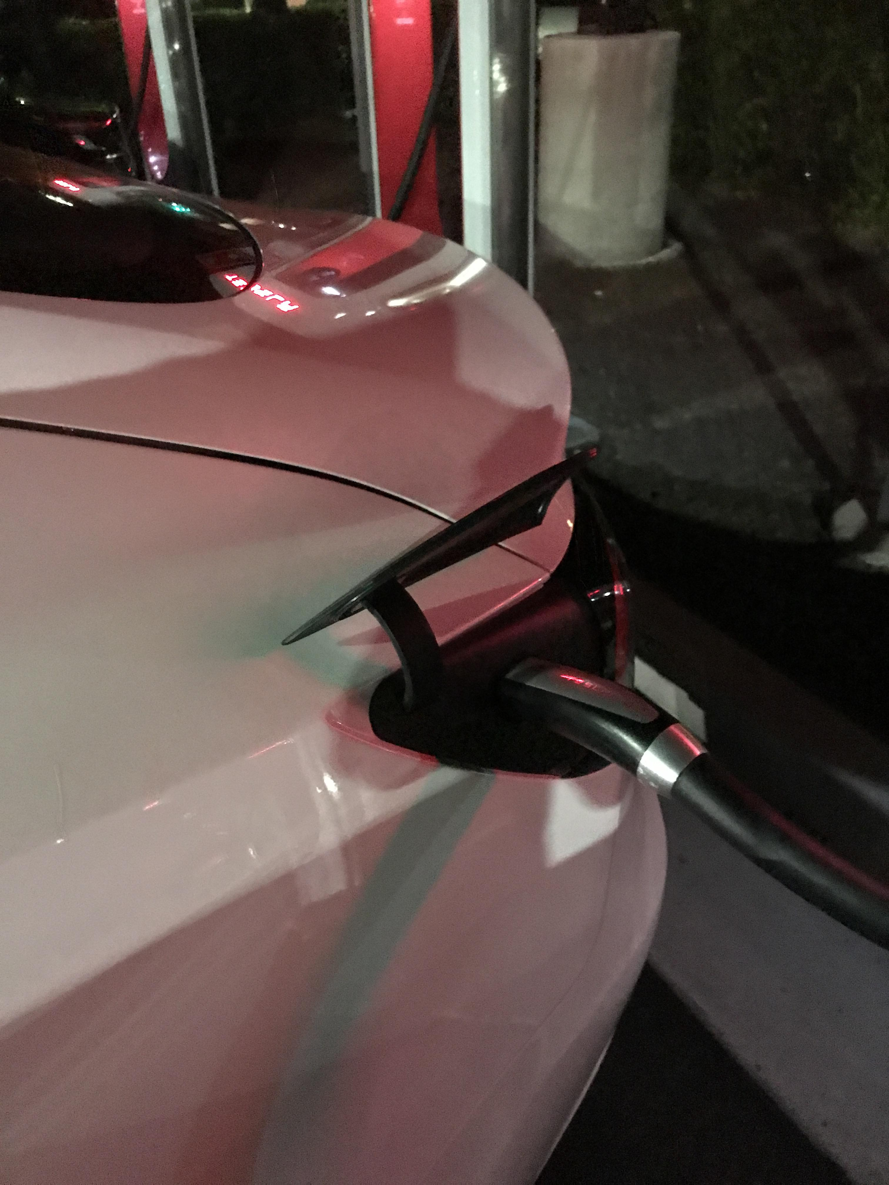 Tesla Model 3 charge port door