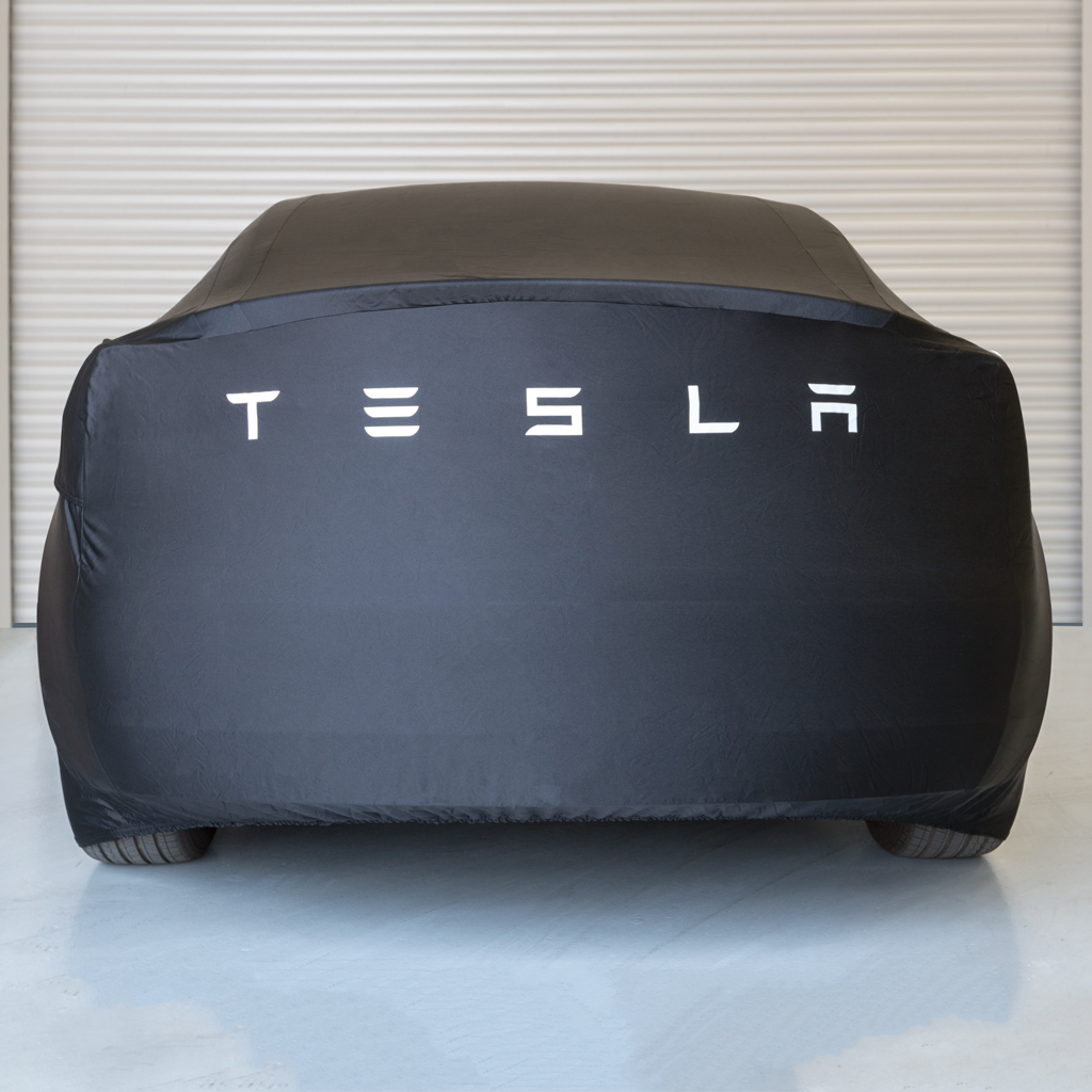 tesla adds model 3 car cover as optional accessory to. Black Bedroom Furniture Sets. Home Design Ideas