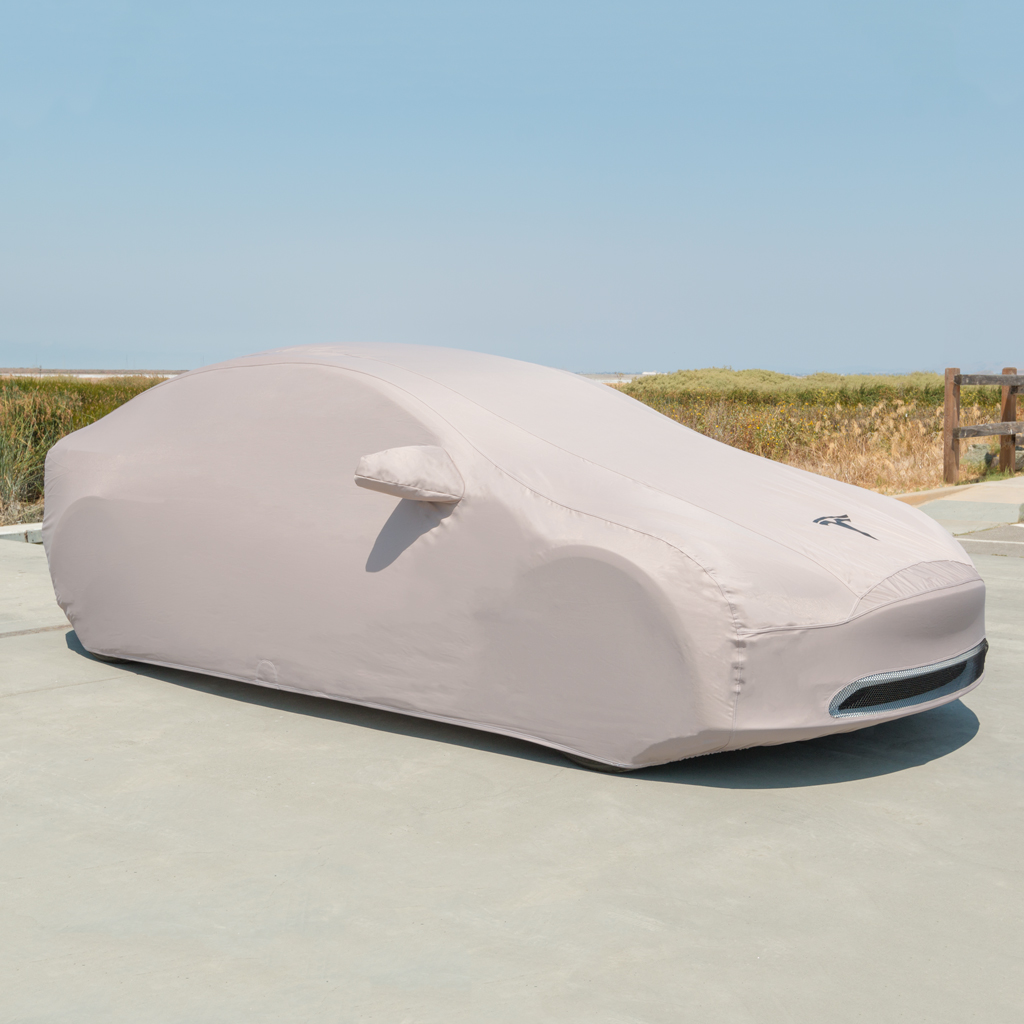 Tesla Model 3 outdoor car cover via Tesla