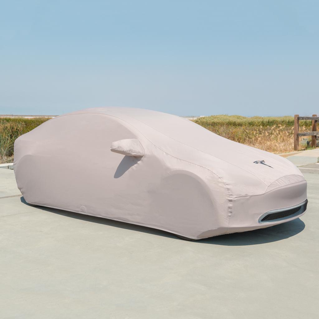 Tesla Model 3 outdoor car cover via Tesla
