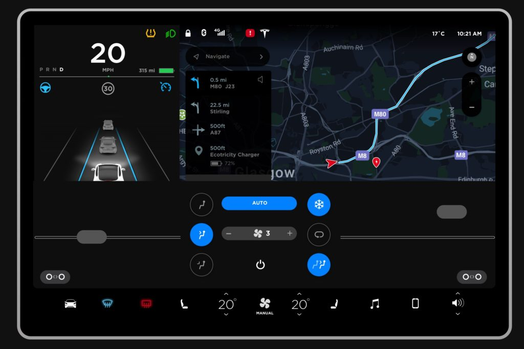 Tesla Model 3 user interface mock up gives fans a glimpse ...