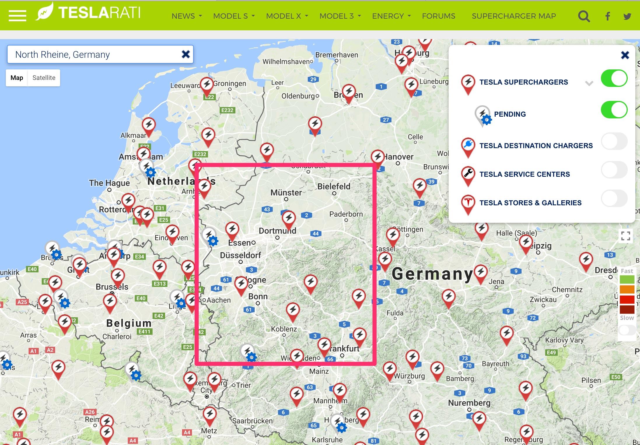 tesla-supercharger-map-rheine-germany - TESLARATI