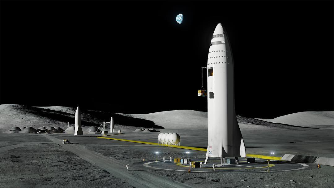 SpaceX Moon Base Alpha (SpaceX)