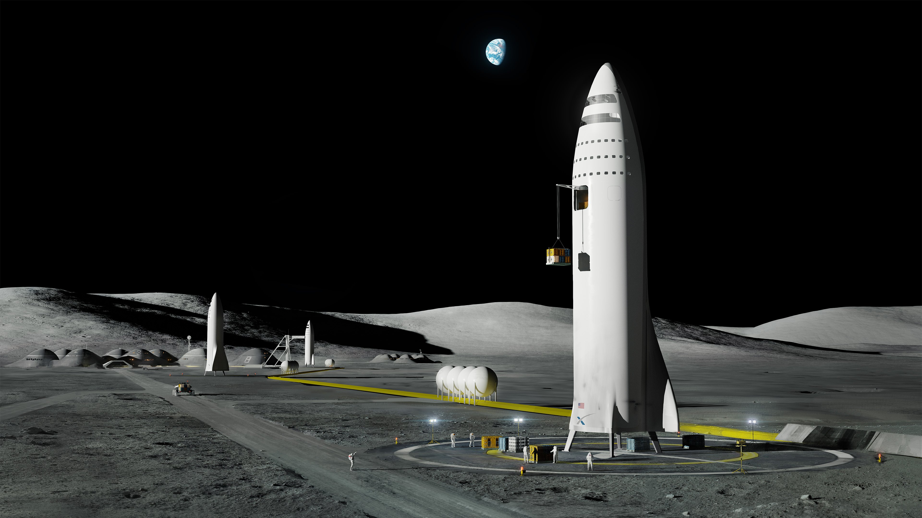 SpaceX Moon Base (SpaceX)