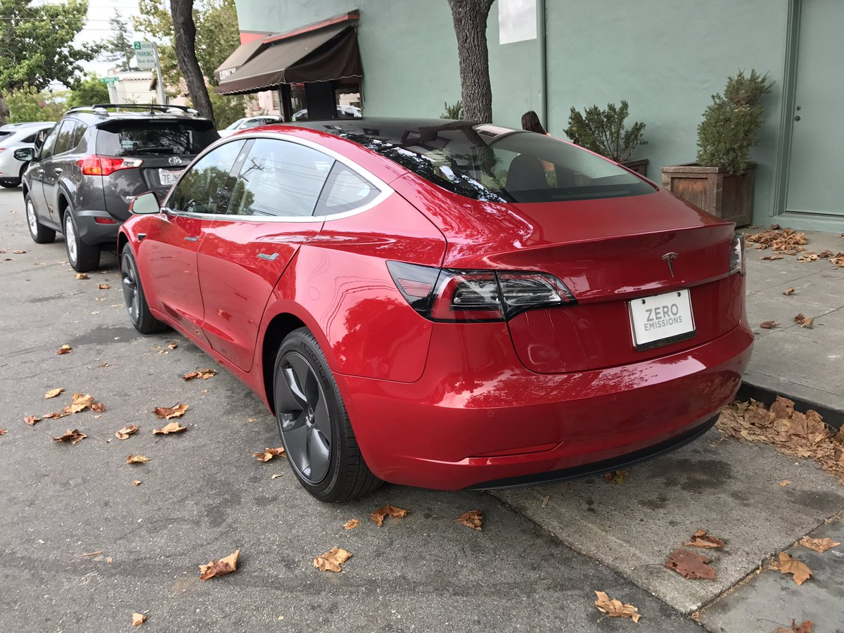 Tesla Model 3 Red Back