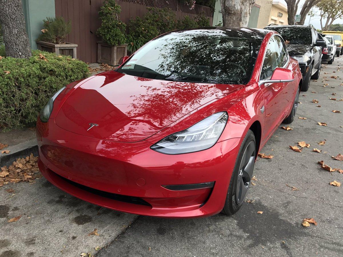 Tesla Model 3 Red Front