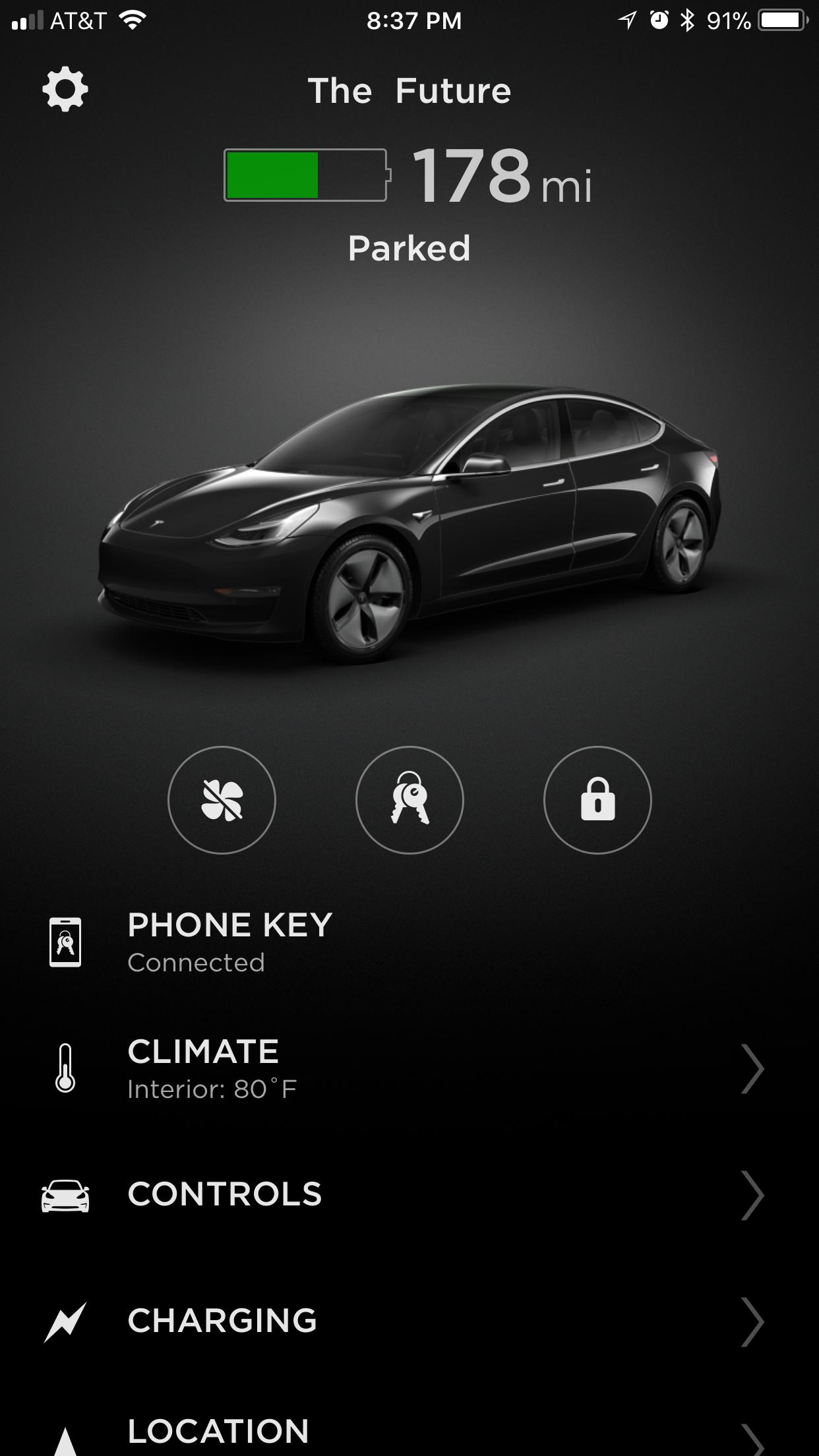 Tesla Model 3 App Climate Charging Teslarati Com
