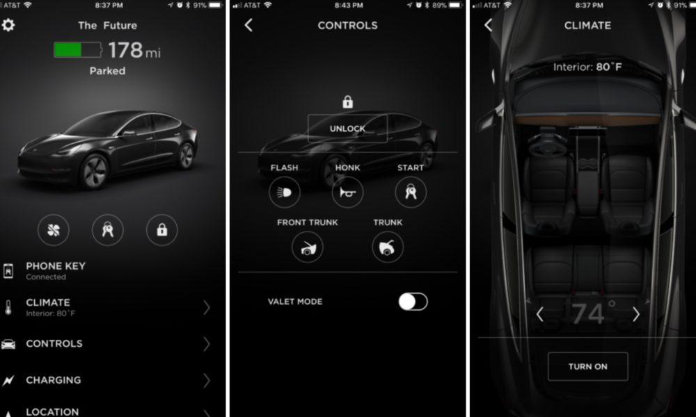 Tesla Model 3 Mobile App Adds Quot Phone Key Quot And Frunk Unlock