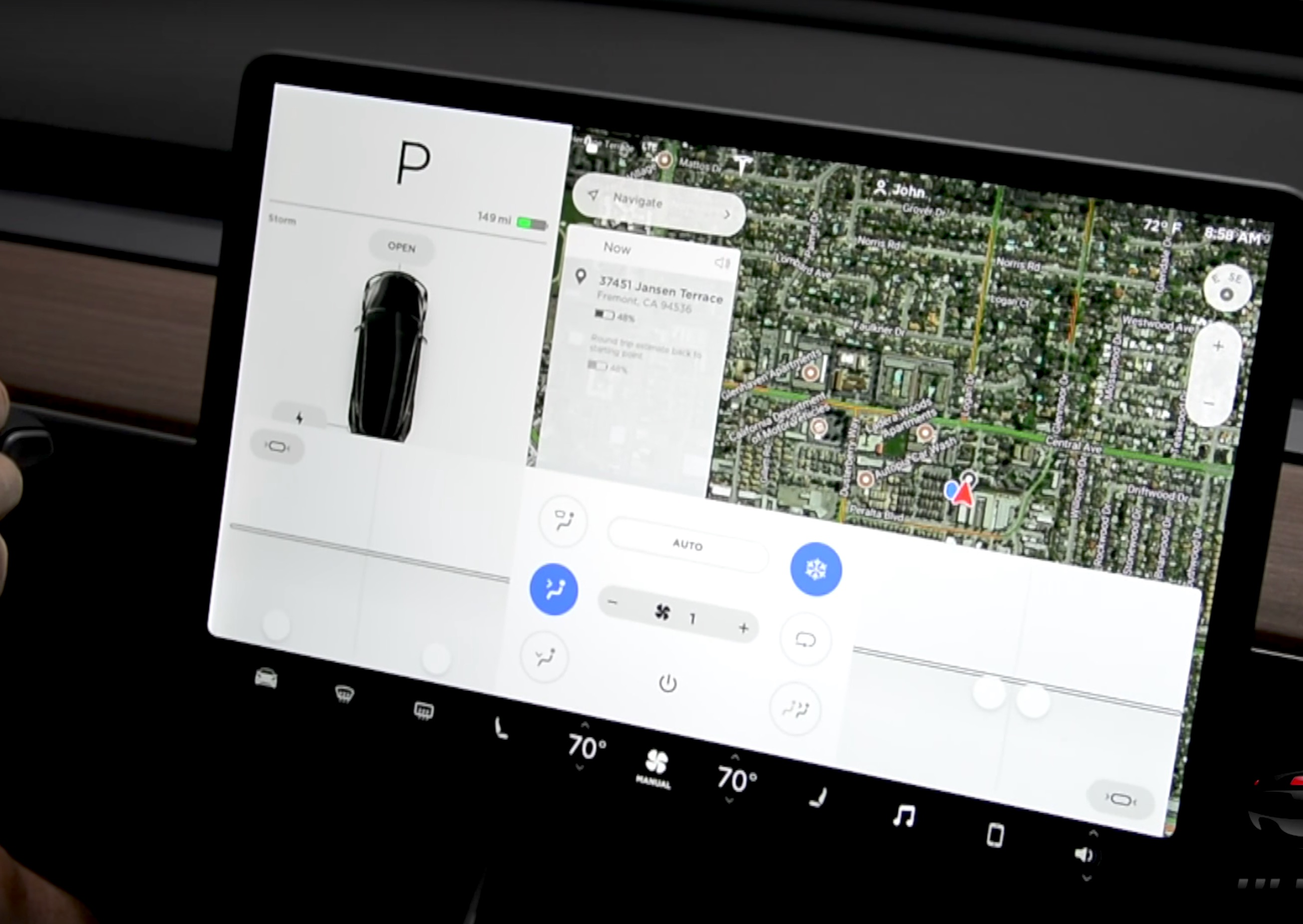 Tesla Model Y >> Another look at Tesla Model 3's touchscreen controls in ...