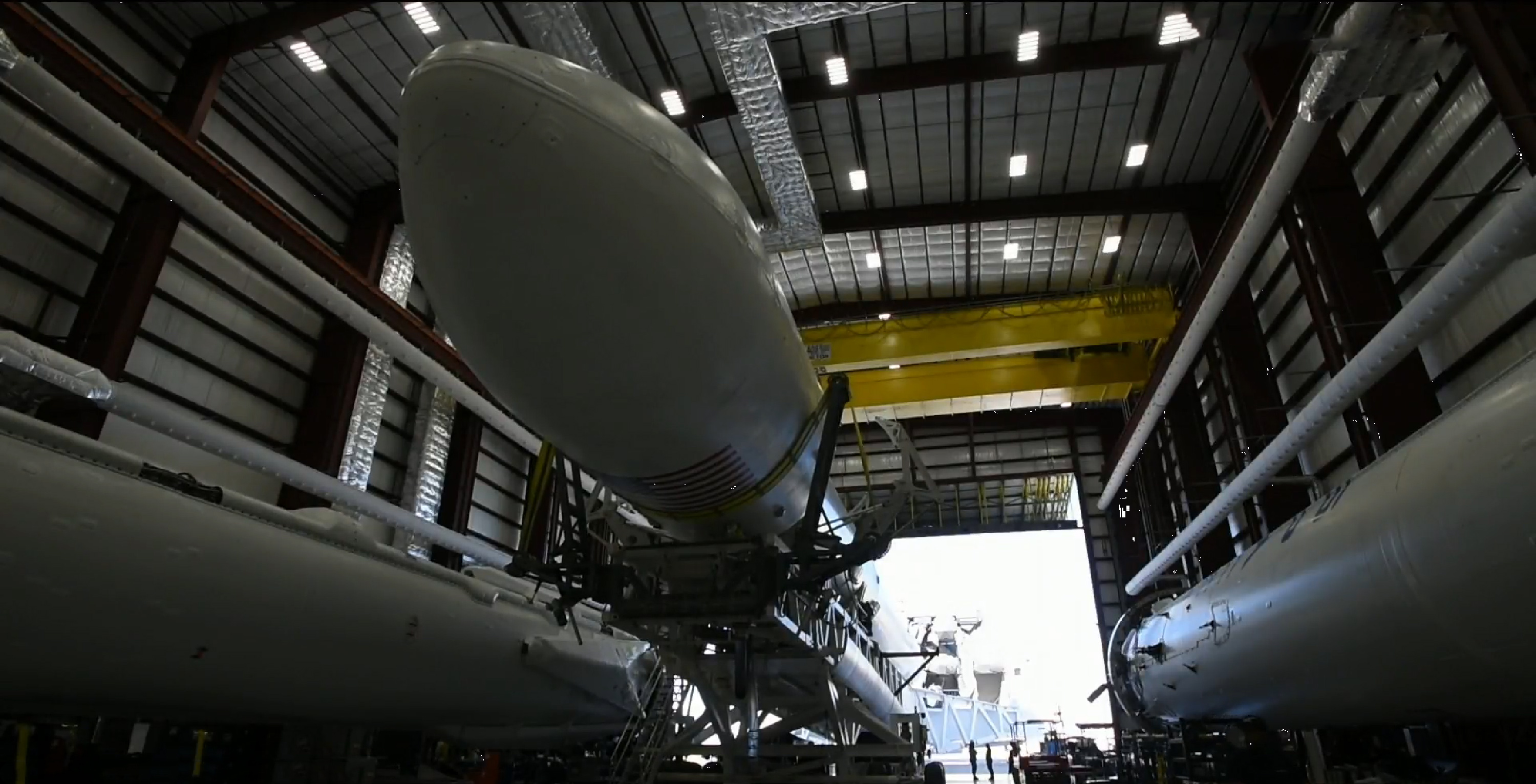 Koreasat 5A rollout (SpaceX)