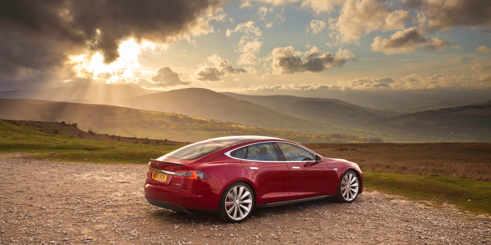 Tesla Model S in Whales