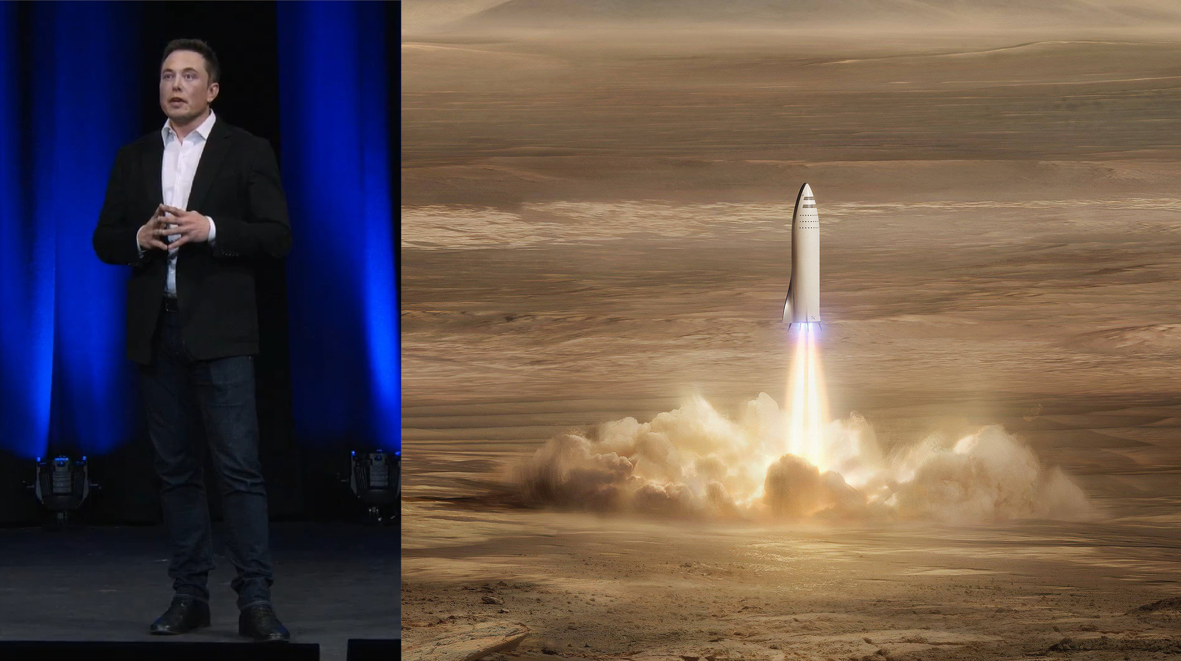 elon and BFR (SpaceX, Teslarati)