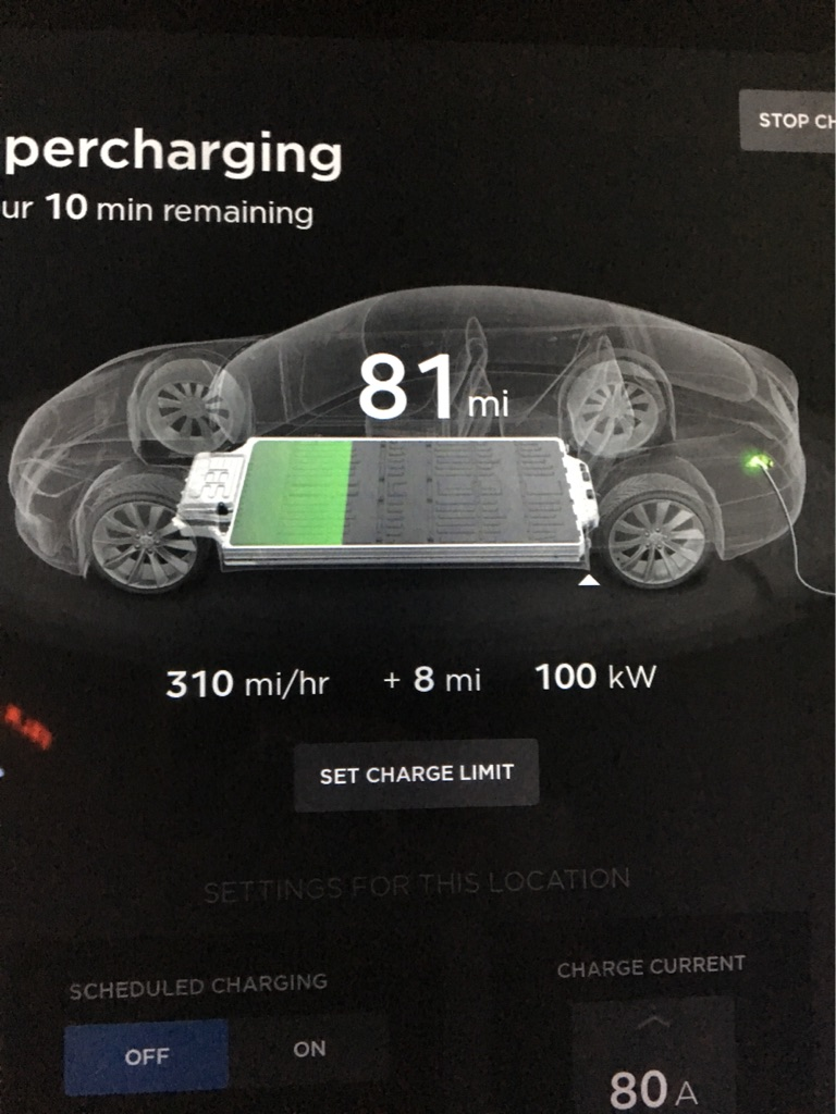 This charger is ripping at 100kw at a rate of 310 miles per hour! One Model  S and one Model X charging with me at the moment. I've noticed the Temecula  ...