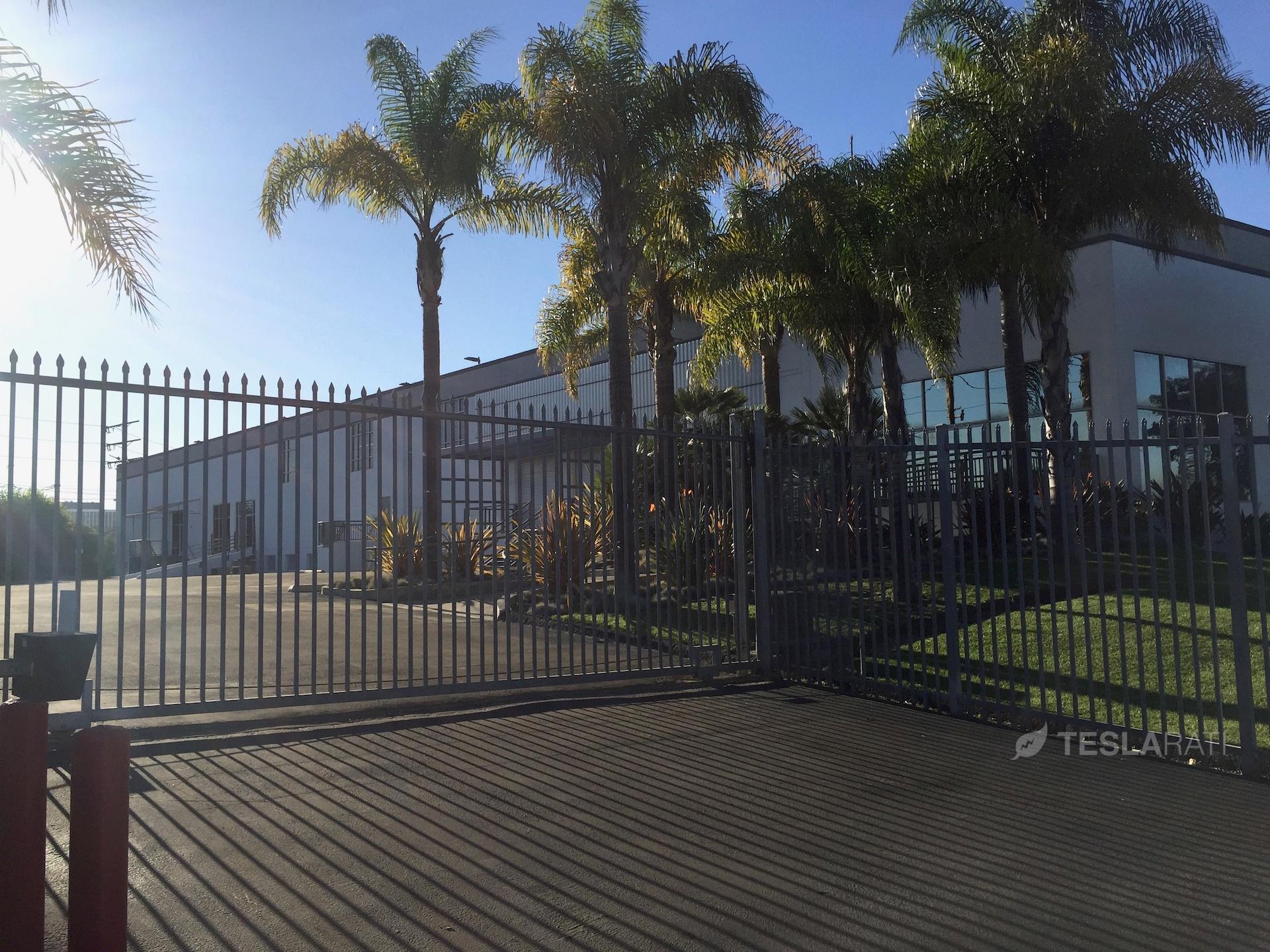Tesla Marina Del Rey facility front entrance gate