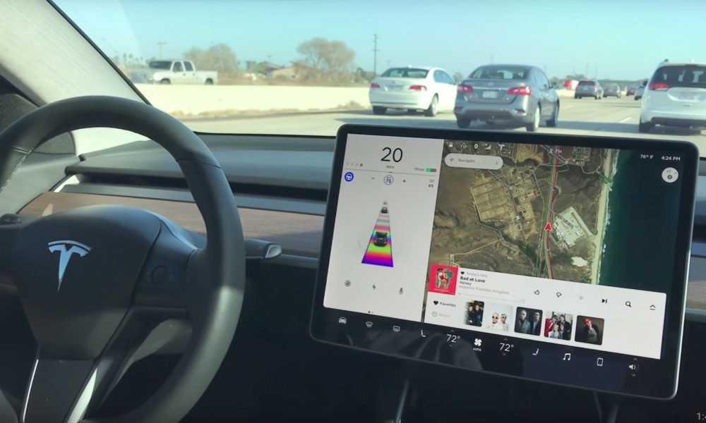 Tesla Model 3 Autopilot in stop-and-go traffic with easter ...