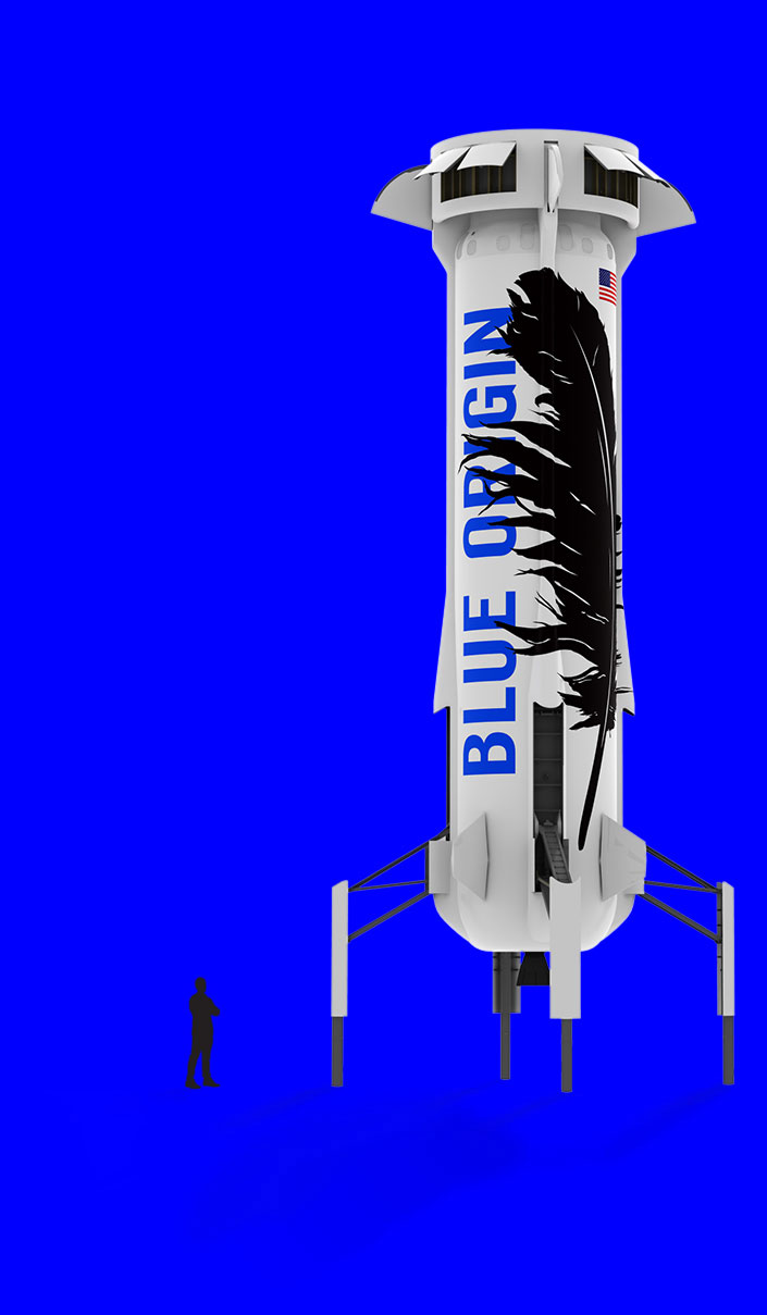 New Shepard scale (Blue Origin)