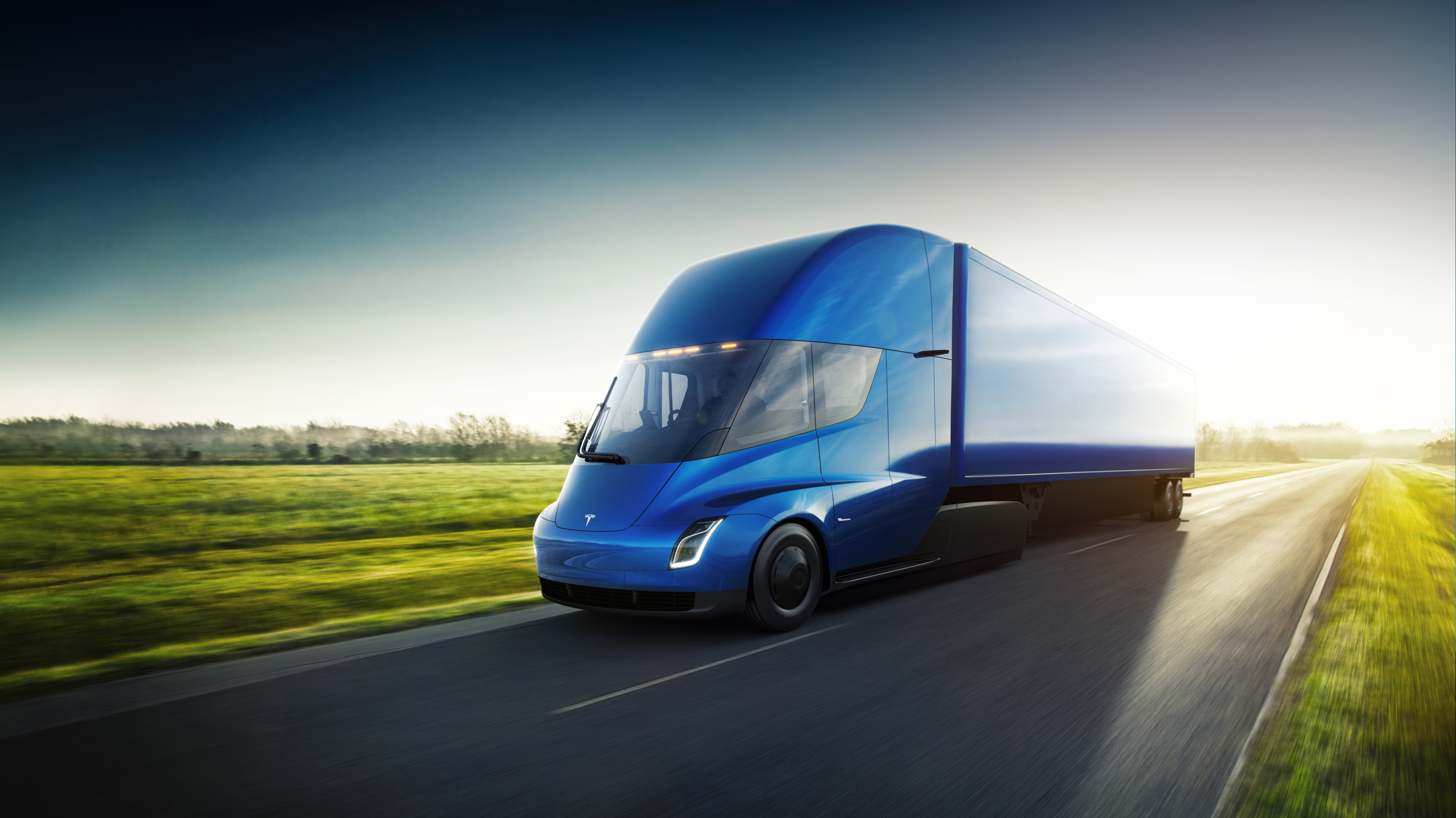 tesla semi unveiled 500 mile range bugatti beating aero