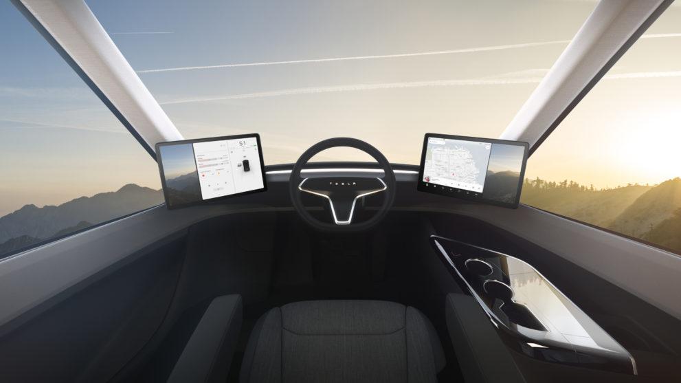 Interior Camion Tesla
