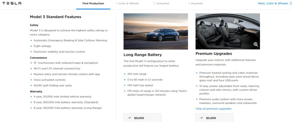 Tesla invites Model 3 customers to order, December ...