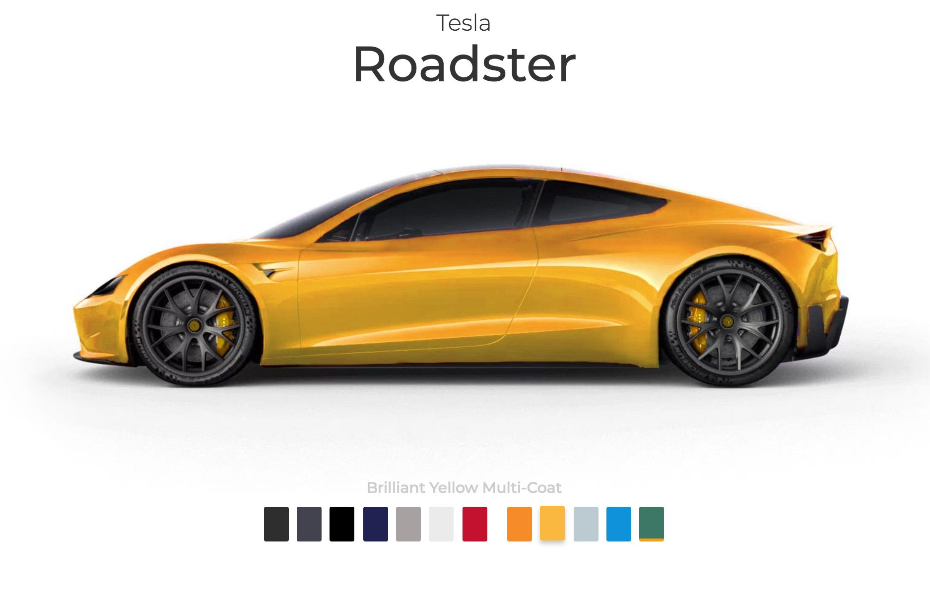 Tesla Roadster Paint Colors Imagined In New Interactive