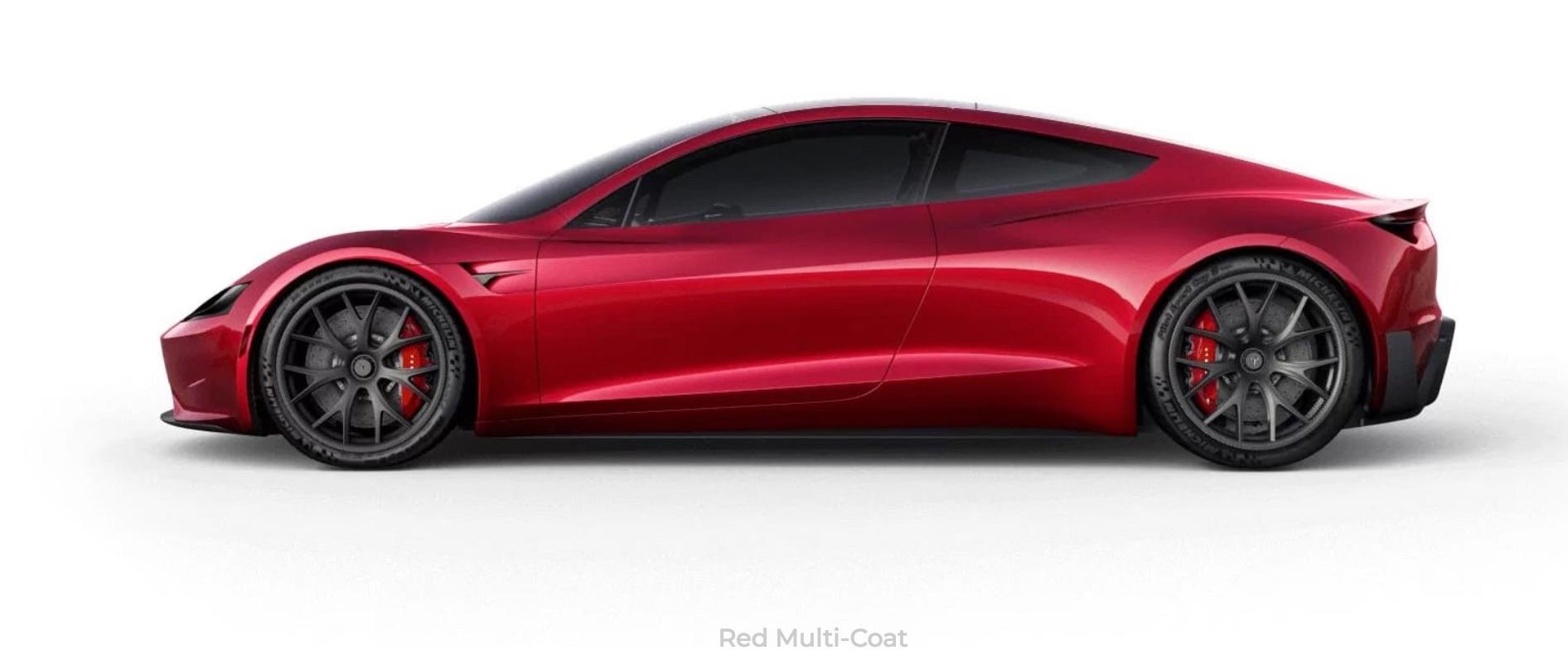 tesla roadster red multi coat. Black Bedroom Furniture Sets. Home Design Ideas