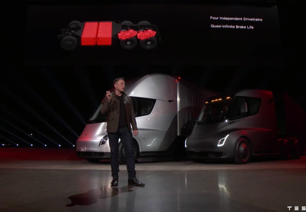 Tesla Semi truck's battery pack and overall weight explored