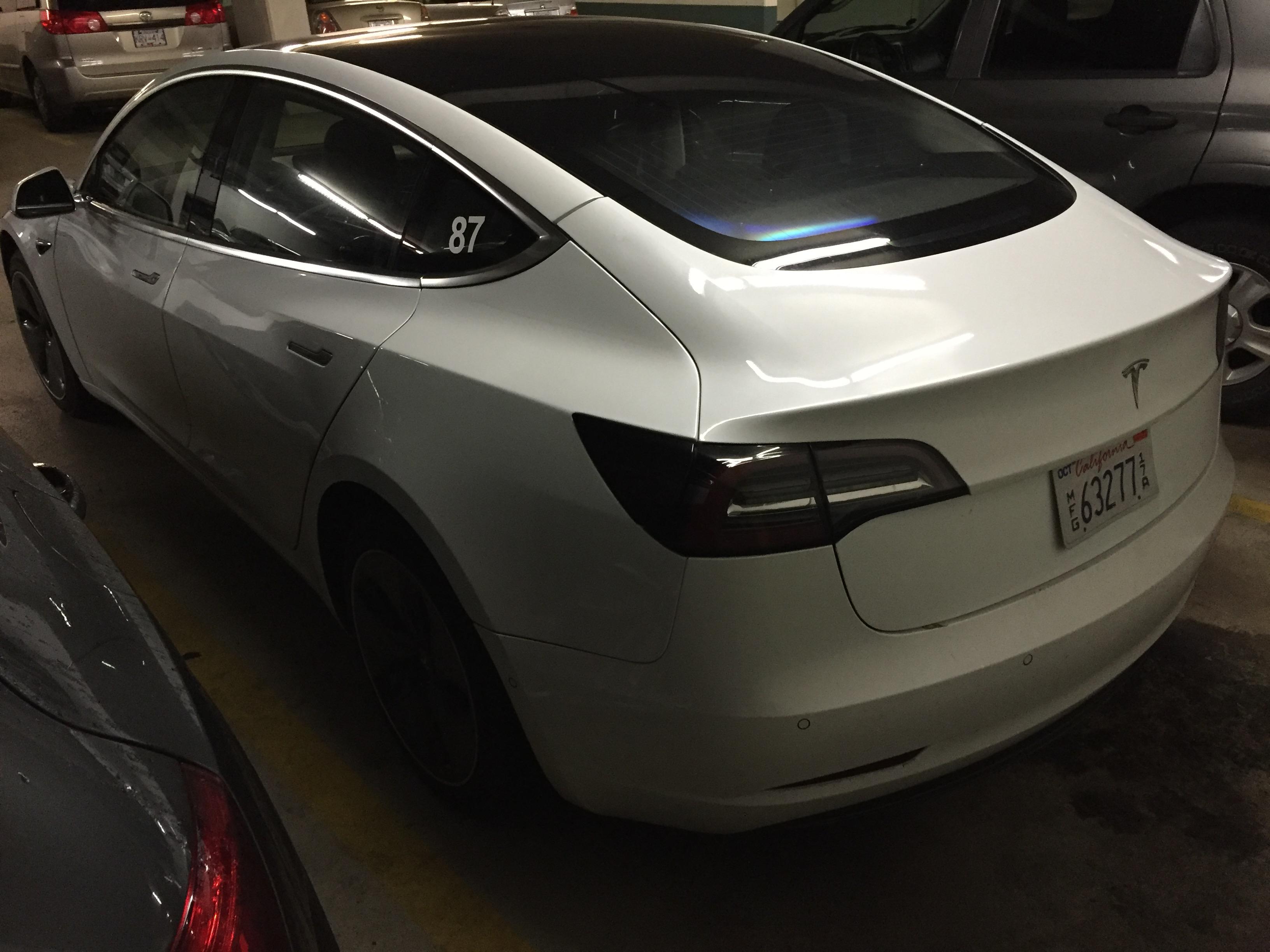 White Tesla Model 3 Rc 87 Vancouver 4