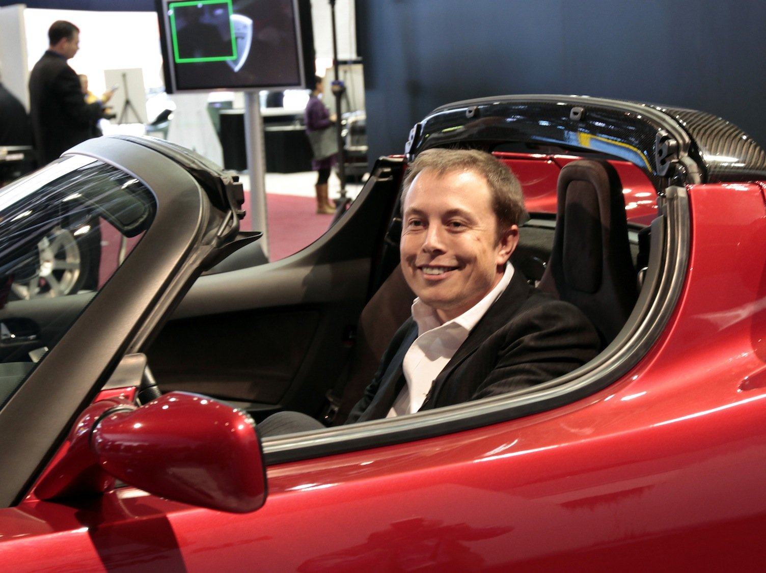 Elon in Roadster (SFGate)