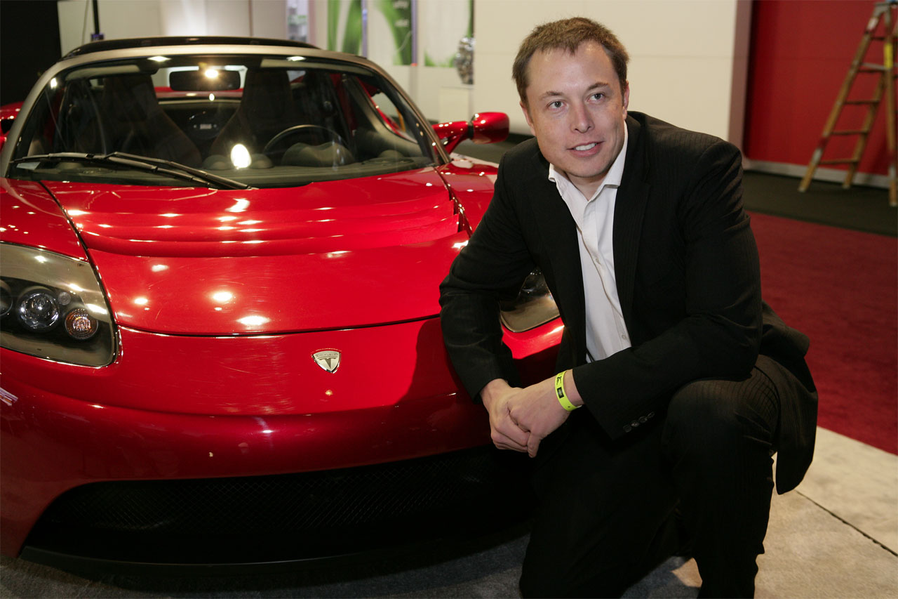 Elon red Roadster