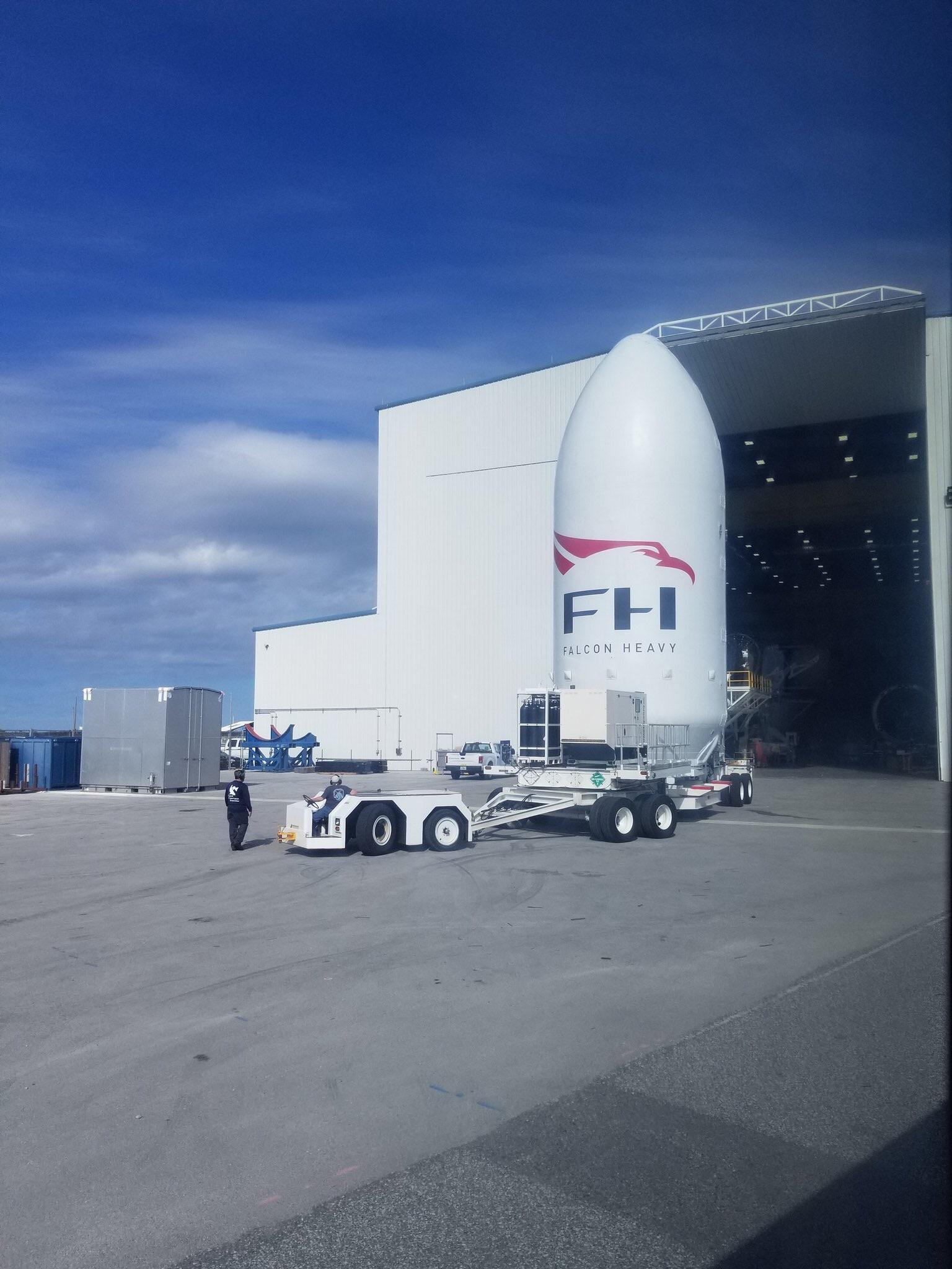 FH fairing at 39A (St-Jed-of-Calumet)